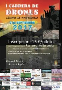 CARRERA DE DRONES EN PONFERRADA 9 SEPTIEMBRE 2017