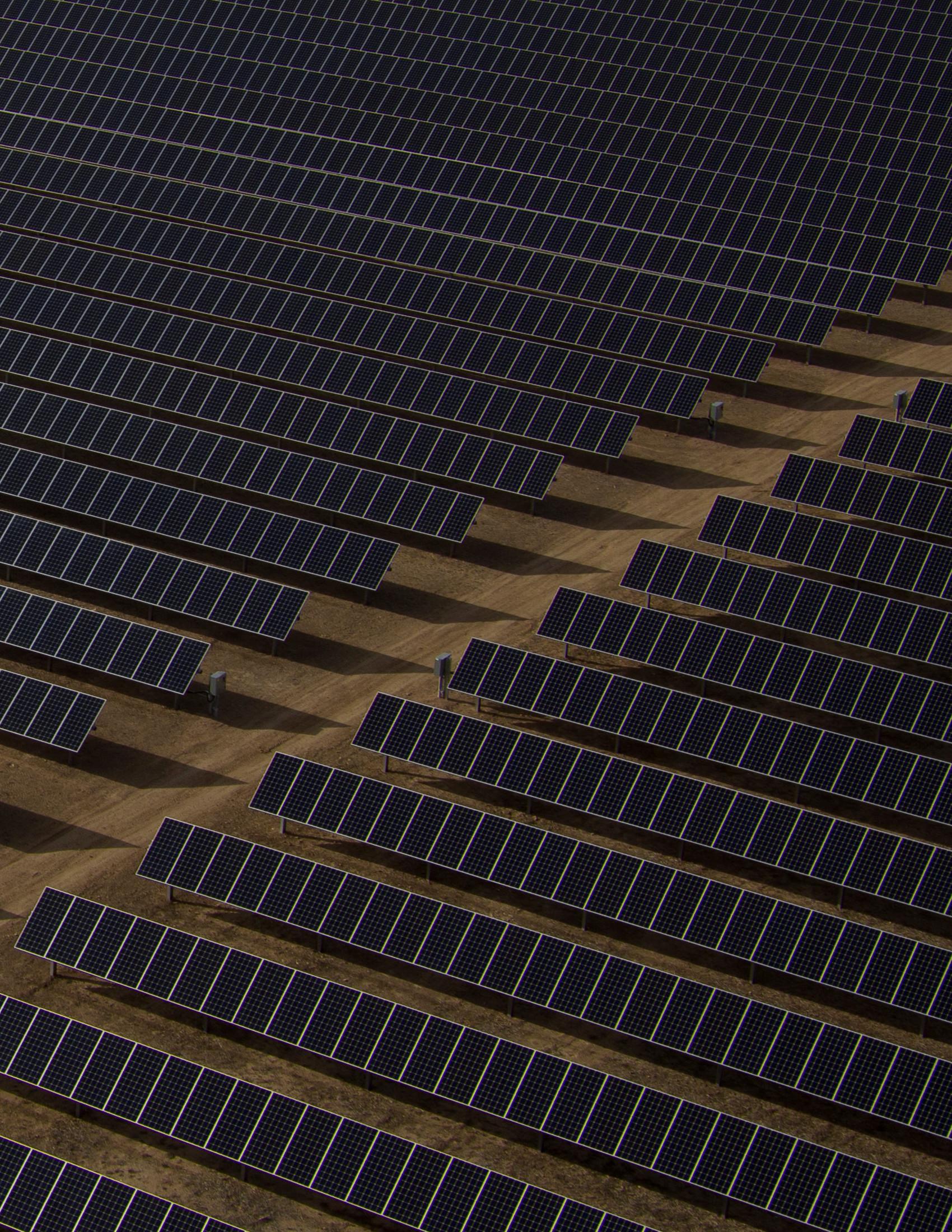 inspección paneles solares